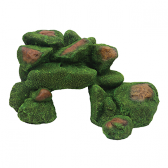 1399180 Hugo rock with moss 33x20x19 cm