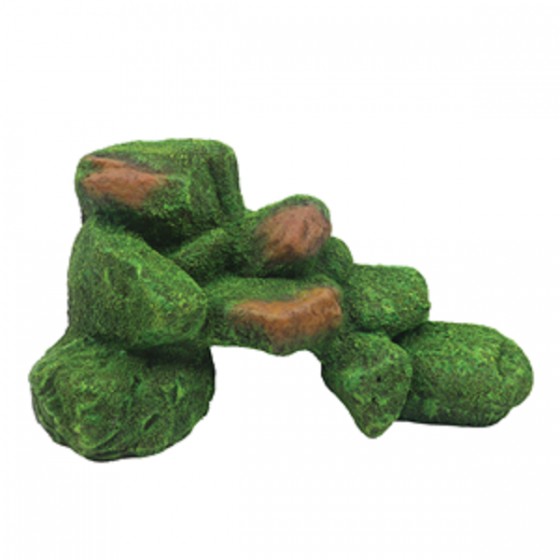 1399184 Hugo Rock with Moss 24x15x13 cm